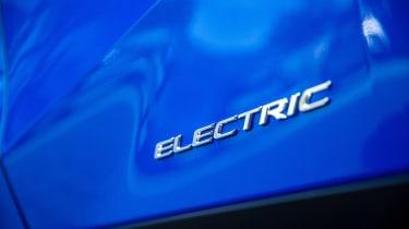 Lexus UX 300e SUV electric badge