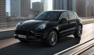 Porsche Macan SUV 2014 front quarter tracking
