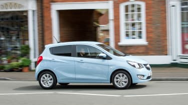 Although it's a city car the Viva cruises well on the open road, too