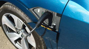 Audi e-tron SUV charging flap