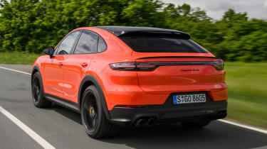 Porsche Cayenne Coupe SUV rear 3/4 tracking