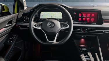 2020 Volkswagen Golf interior - close up