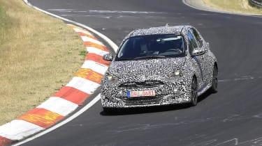 Toyota Yaris testing at the Nurburgring