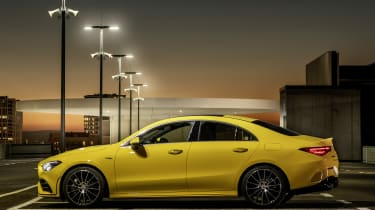 Mercedes-AMG CLA 35 side view static