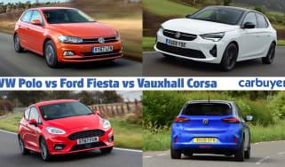 Volkswagen Polo vs Ford Fiesta vs Vauxhall Corsa header