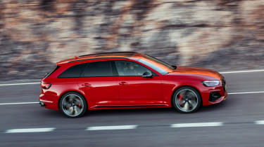Audi RS4 Avant driving - side view