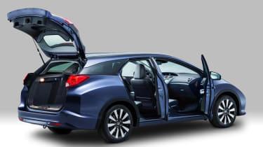 Honda Civic Tourer estate 2014 doors open
