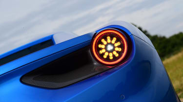 Ferrari 488 Spider convertible rear light