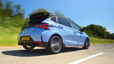 Hyundai i20 N hatchback rear 3/4 tracking