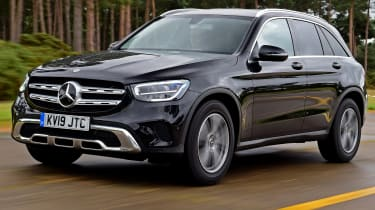 Mercedes GLC SUV front 3/4 tracking