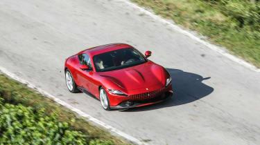 Ferrari Roma coupe overhead