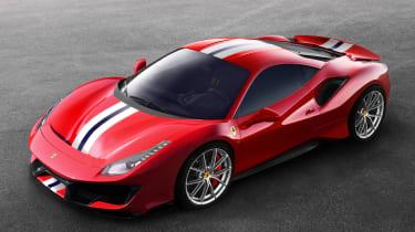 Ferrari 488 Pista front three quarter high