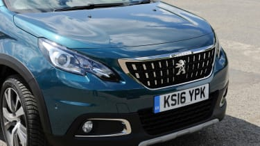 The latest Peugeot front grille design sits well with the 2008's body design