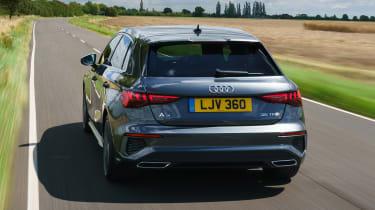 Audi A3 Sportback hatchback rear driving