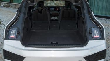 BMW iX SUV boot seats folded