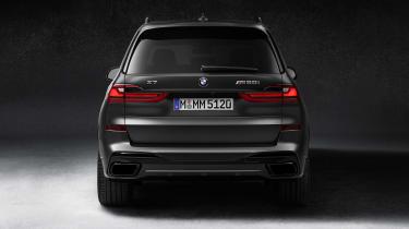 BMW X7 Dark Shadow Edition rear end