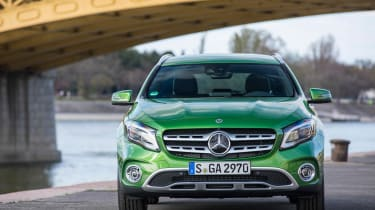 The GLA is based on the Mercedes A-Class hatchback, and it's easy to see the similarities