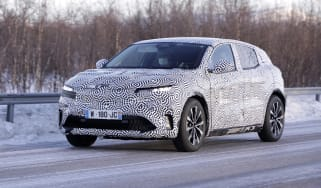 Electric Renault Megane crossover development model