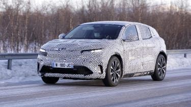 Electric Renault Megane crossover development model