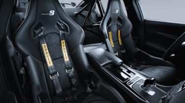 ...or a 'Track Pack' version with only two racing seats complete with motorsport-style four-point safety harnesses.