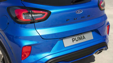 2020 Ford Puma - rear tailgate close-up view