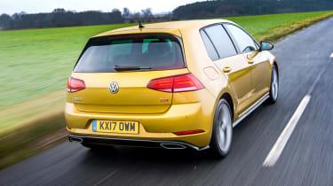 Volkswagen Golf hatchback rear 3/4 tracking