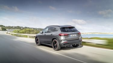 Mercedes GLA driving - rear view