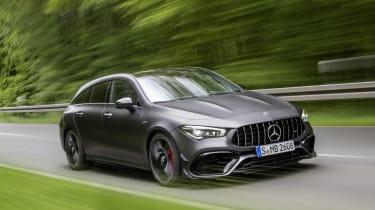 2019 Mercedes-AMG CLA 45 S Shooting Brake - driving 3/4 dynamic shot