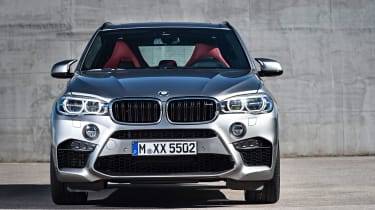 An aggressive bodykit and standard LED headlights help set the X5 M apart from other versions