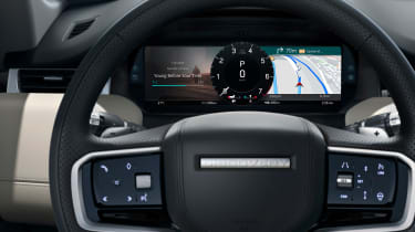 2020 Land Rover Discovery Sport steering wheel and digital dials