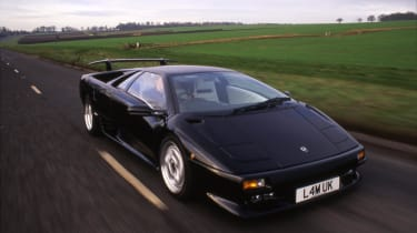 The Diablo replaced the Countach, and was the first Lamborghini to hit 200mph