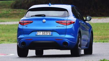 Alfa Romeo Stelvio SUV rear driving