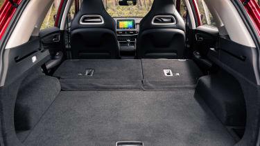 MG HS SUV seats folded down