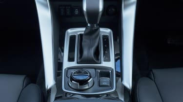 The Shogun Sport has a smooth eight-speed automatic gearbox