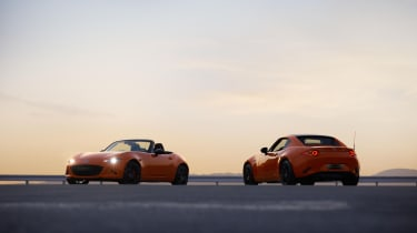 Mazda MX-5 30th Anniversary Edition roadster and RF coupe