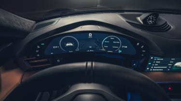 2020 Porsche Taycan - digital dial cluster