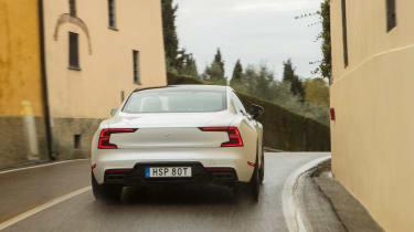 Polestar 1 coupe rear action
