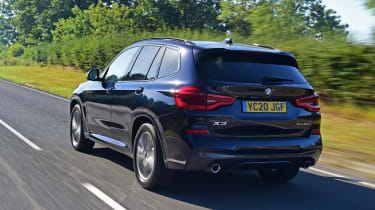 BMW X3 SUV rear 3/4 tracking