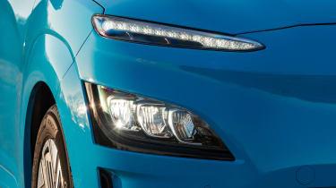 Hyundai Kona Electric SUV headlights