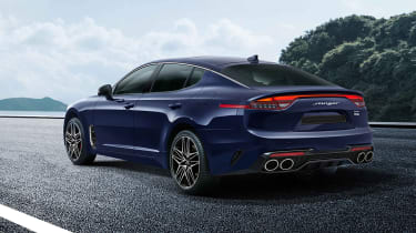 Kia Stinger facelift rear view (not UK specification)