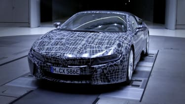 The BMW i8 Spyder is expected to bring with it new battery tech and a greater EV range
