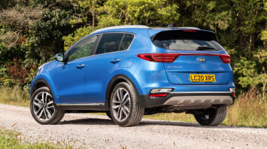 Kia Sportage SUV rear 3/4 static