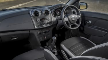 New materials and an updated steering wheel have been added to the interior