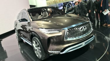 The Infiniti QX50 Concept SUV was unveiled at the Detroit Motor Show