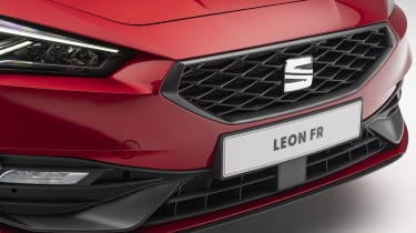 2020 SEAT Leon - front grille close up