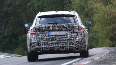 BMW 3 Series Touring rear tracking 2 spy shot