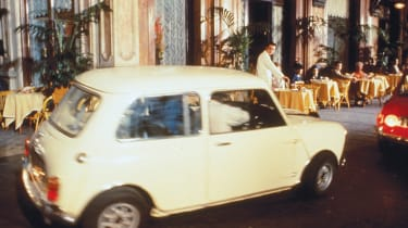 The Italian Job Minis, driven by expert stunt drivers, also took to Italian pavements in the film.