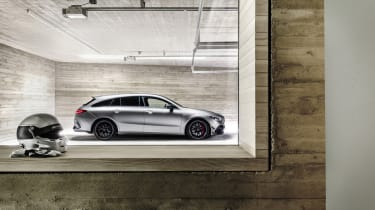 2019 Mercedes-AMG CLA 45 S Shooting Brake - side view static