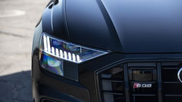 Audi SQ8 - front headlight close up
