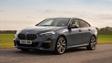 BMW M235i Gran Coupe saloon front 3/4 static